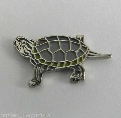 Exotic Water Turtle Lapel Pin Badge 3/4 Inch