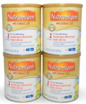 NUTRAMIGEN with Enflora LGG Formula 12.6oz, 4 cans  Exp 06/2019 and 05/2019
