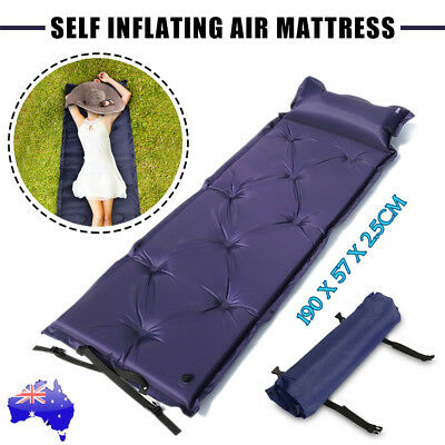 Single Air Bed Inflatable Mattresses Sleeping Mats Home Camping Outdoor Joinable