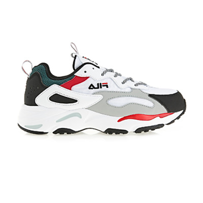 FILA Ray Tracer Unisex Disruptor Sneakers Shoes - White/Black/Red(FS1SIA3133X)