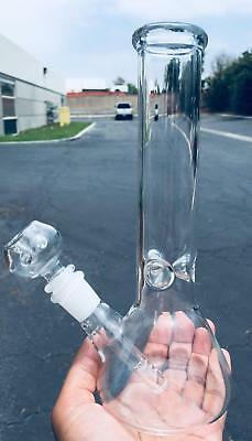 Hookah Water Pipe Heavy Glass Bong 11 inch Smoking Pipe Beaker w/ ICE catcher