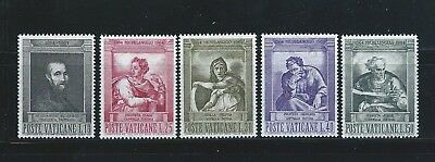 Vatican City Stamps 1964 Mnh Set Designs From The Sistine  Chapel Sc 387-91