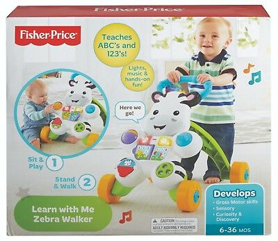 Fisher Price - Learn With Me Zebra Walker DKH80 NEW