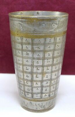 Unique Collective Old Brass Big Size Glass Lassi Cup India Home Décor.G66-331 AU