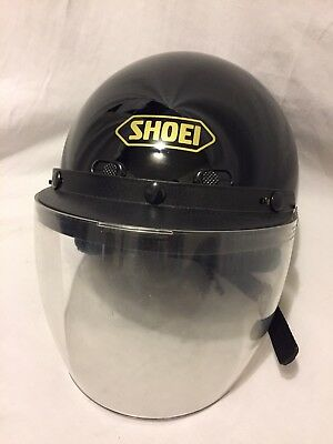 6e0199ce MENS SHOEI ST Cruz Motorcycle Half Helmet W/ Face Shield DOT W-3 Sze ...