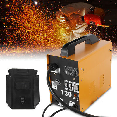 MIG 130 Gas-Less Flux Core Wire Welder Welding Machine Automatic Feed Kit & Mask