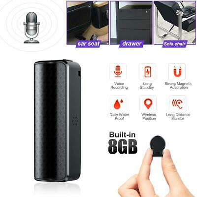 8GB Digital Voice Recorder Mini Hidden Auto Voice Activated Magnet Spy Device AU
