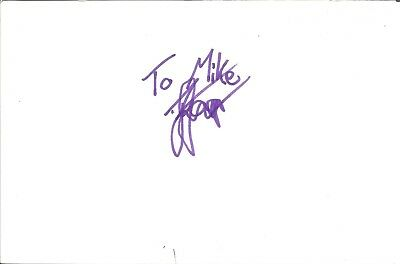 Nrosinath Saar actor signed white card dedicated in person autograph Z2027