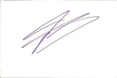 Fernando Gonzalez actor signed white card dedicated in person autograph Z2010
