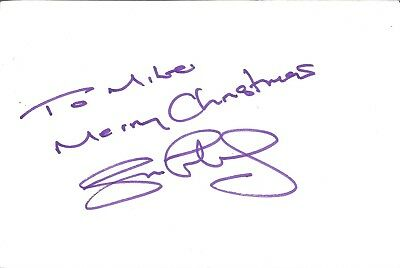 Simon Fielding actor signed white card dedicated in person autograph Z2176