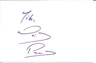 Neil Pearson actor signed white card dedicated in person autograph Z2113