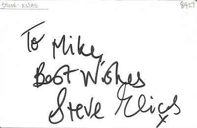 Steve Elias actor signed white card dedicated in person autograph Z2006