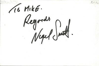 Nigel Smith actor signed white card dedicated in person autograph Z2022