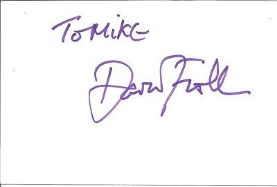 David Firth actor signed white card dedicated in person autograph Z2173