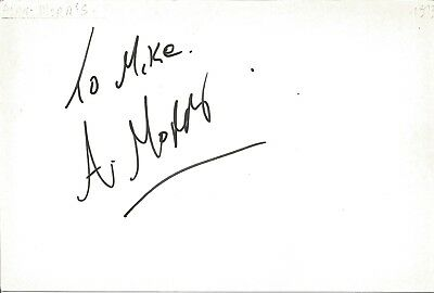 Alan Morris actor signed white card dedicated in person autograph Z2020