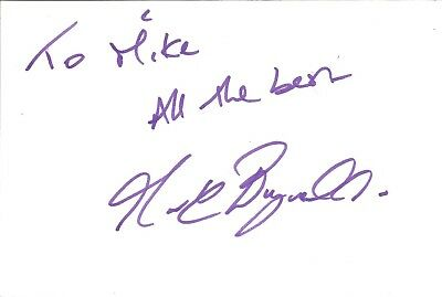 Mark Bagnall actor signed white card dedicated in person autograph Z2029