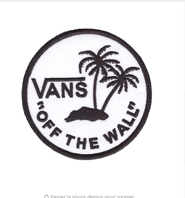 patch écusson Vans off the wall  blanc