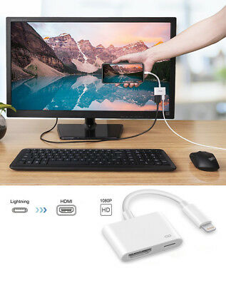 Lightning to Digital TV AV HDMI Cable Adapter For iPad  iPhone 6 7 8 Plus X