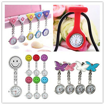 New Nursing Nurse Watch With Pin Fob Brooch Pendant Hanging Pocket Fobwatch S BR