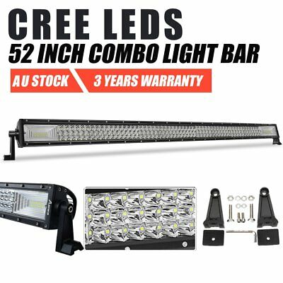 """52inch CREE LED Work Light Bar SPOT FLOOD COMBO Driving Offroad 4WD SUV UTE 50"""""""