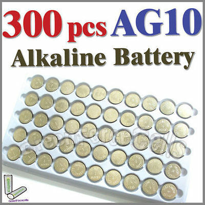 300 x AG10 LR54 SR54 SR1130W 189 L1130 Single Use Alkaline Battery Button