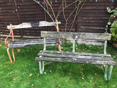 Wondrous 2X Antique Reclaimed Garden Benches Cast Aluminium And Pdpeps Interior Chair Design Pdpepsorg