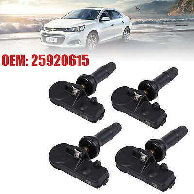 4 TPMS GM Tire Pressure Monitoring Sensors For Chevrolet Chevy Cadillac 25920615