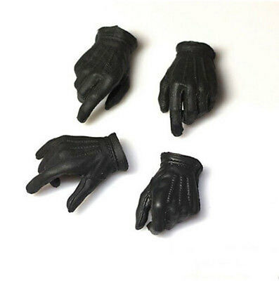 "1:6 Robbers JOKER 2.0 Black Gloves Hand Type For 12"" Male Action Figure 1 Pair"