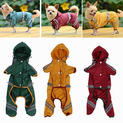 Reflective Waterproof Pet Coat Jacket Dog Raincoat Clothing Puppy Rainwear
