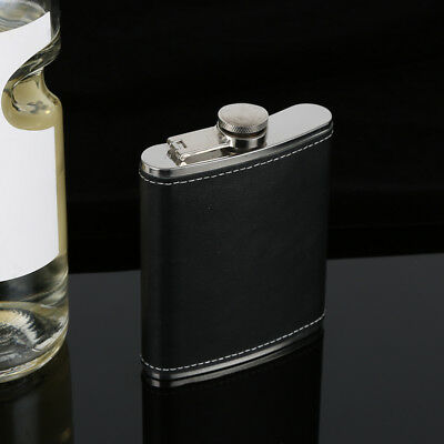 PU Leather Stainless Steel Flask Flagon Whiskey Wine Pot Bottle  5 6 7 8 9oz