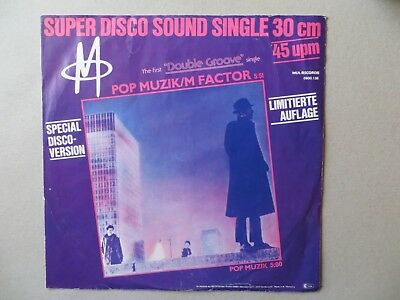 Schallplatte Maxi-Single pop Muzik, M factor