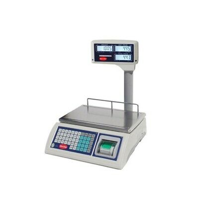 ELECTRONIC SCALE FOR SHOPS WITH PRINTER - DISPLAY COLUMN - PORT. 15 Kg