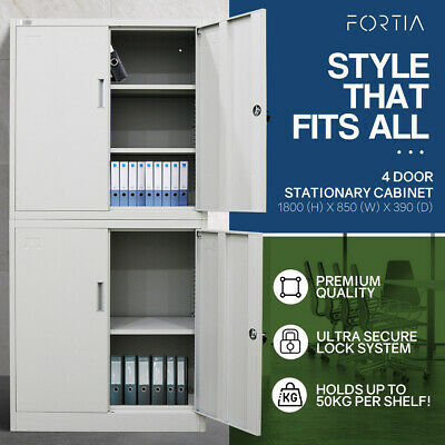 AVANTE Stationary Cabinet Office Metal Lockable Storage Cupboard Locker 4 Door