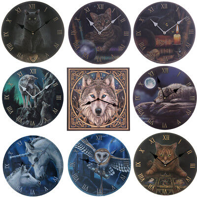 Decorative Fantasy Spiritual Designs Wall Clock Gothic Gift Novelty Homewares