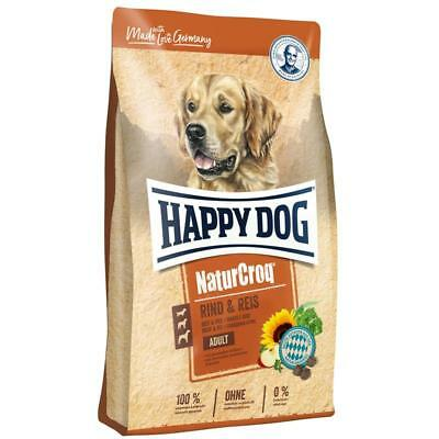Happy Dog NaturCroq Rind&Reis | 15 kg Hundefutter trocken
