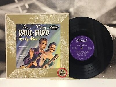 """Les Paul & Mary Ford - Bye Bye Blues ! 10"""" Vinyl Vg+ Italy 1952 Capitol H 356"""