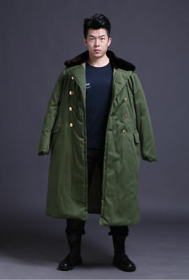 Chinese Army Pla Communist Party Winter Military Type Cotton Greatcoat Coat