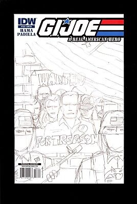 G.i. Joe Real American Hero #156 Ri Sketch Variant  Near Mint  Comic Kings