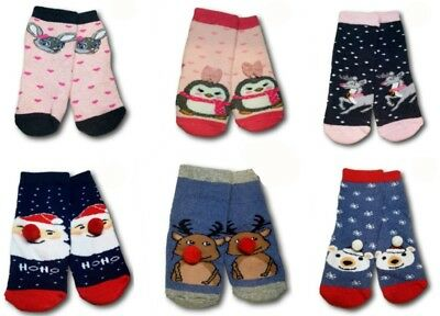 Baby Girl Boy Toddler Terry Cotton Warm Winter Christmas Socks 12Month to 3Years