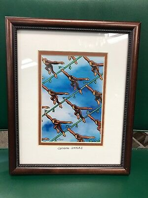 Estate Vintage Signed Watercolor by Pat Cranor RARE Framed 43/500