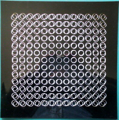 "Vasarely Victor  - ""Structures binaires permutables ""  Collage"
