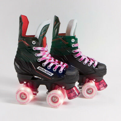 Bauer Quad Roller Skates - NS & NSX - 2018 Model - Light up/Flashing Wheels