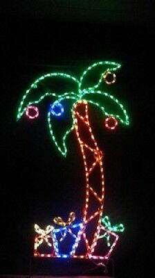 PRE-LIT PALM TREE Outdoor Party Holiday Artificia Lighted Decoration ...