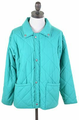 FILA Girls Quilted Jacket 13-14 Years Green Polyester Vintage FY04