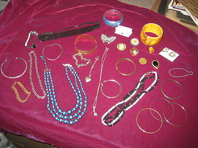 Costume, Vintage,Antique Jewelry Lot, 30 PIECES!  Our REF 1884-1