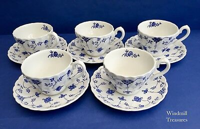 Set Of 5 Vintage Myott Finlandia Cups And Saucers - Good Condition