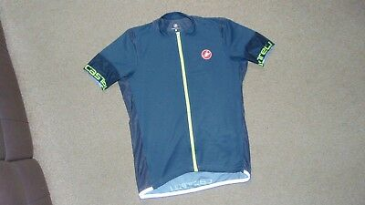 28ad7f5bd Men s Castelli Entrata 2 Full Zip Cycling Jersey Size XL in Anthracite Grey