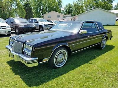 1984 Buick Riviera  1984 Buick Riviera Coupe 37,000 Miles! Black w/ Maroon Leather Interior