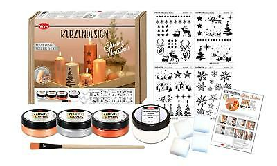 "Kerzendesign Set ""Shining Christmas"", Box 14-teilig, Kerzenkunst mit Inka Gold"