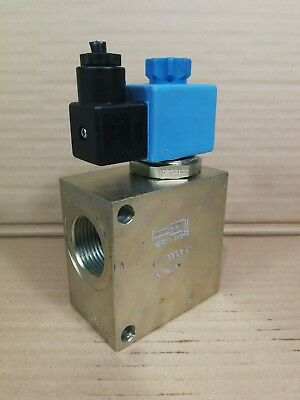 "Rexroth Solenoid N/O Double Lock Valve OD1532211AS 24VDC 350BAR 3/4""BSP Ports *"